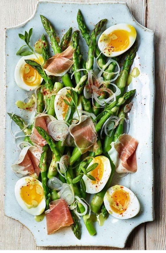 Asparagus Salad With Eggs & Jambon De Bayonne
