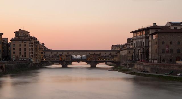 Tramonto a ponte vecchio-Firenze