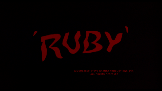 The very eerie Ruby title card
