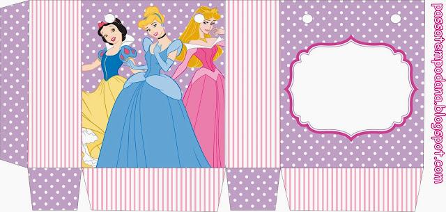 Disney Princess Birthday: Free Printable Boxes.