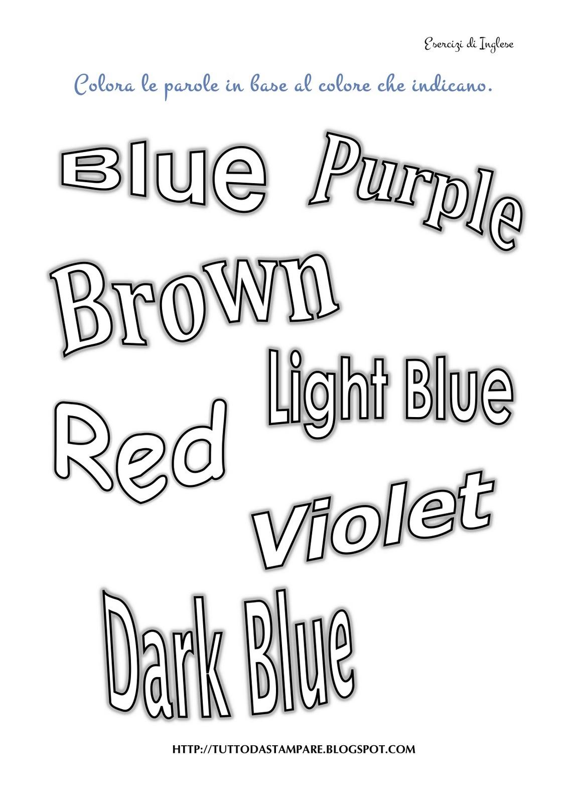 Super Colori in Inglese - Tutto da Stampare VM75