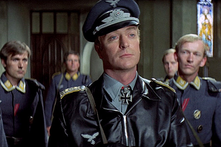 Michael Caine as a German officer in The Eagle Has Landed