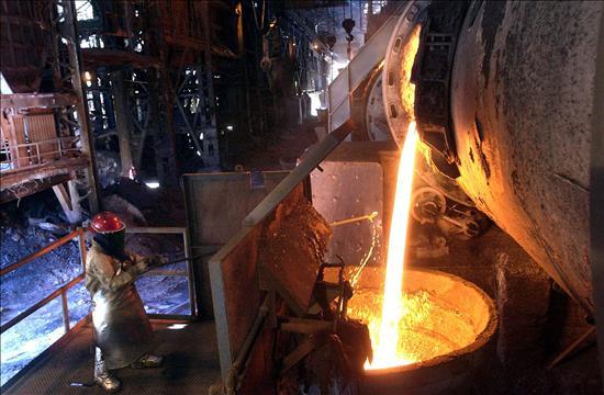 Producción de acero cayó de 4,3 millones de toneladas a 260.000