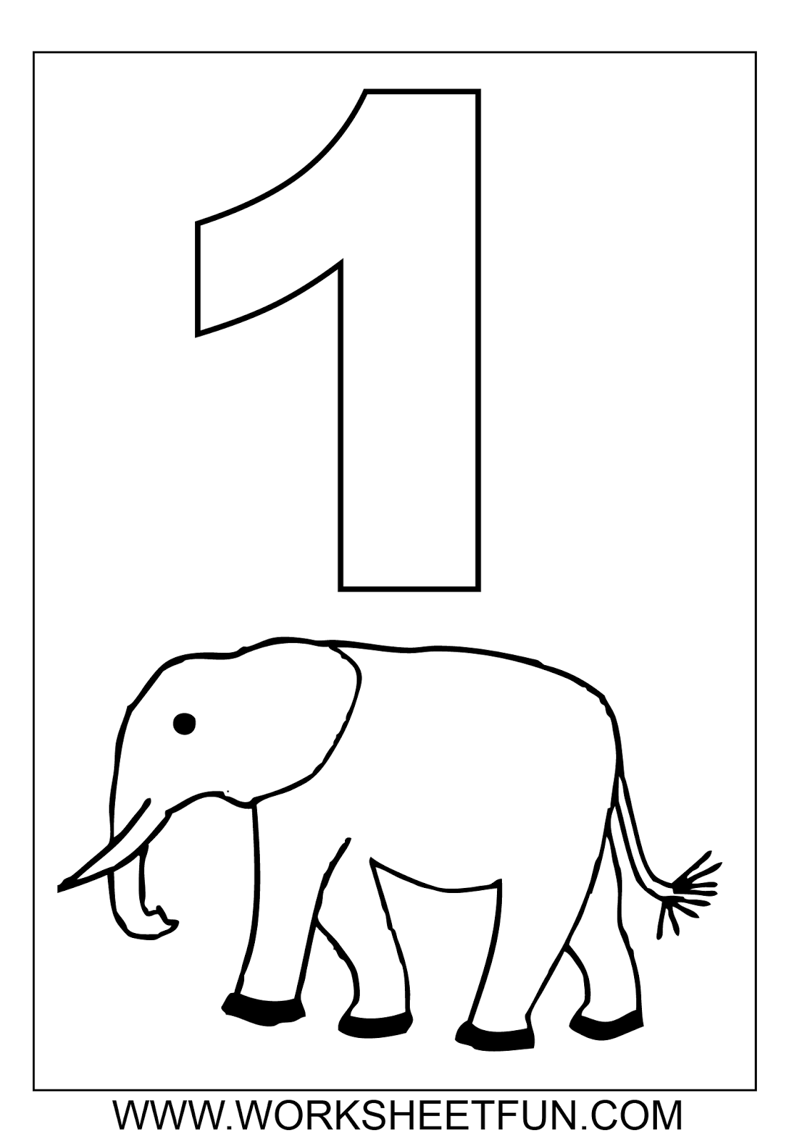 Coloring Pages For Numbers 1 9 Coloring Pages