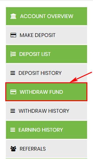 Вывод средств в Financ Limited