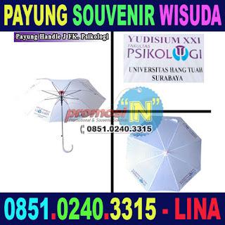 Grosir Payung Souvenir Wisuda Lulusan Murah Yudisium XXI Fakultas Psikologi Universitas Hang Tuah Surabaya