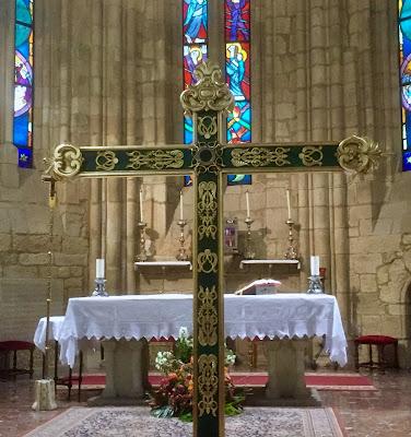 Cruz para el paso del Lignum Crucis. Cofradía de la Vera Cruz. León. Foto Xuaxús