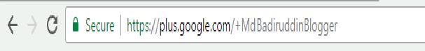 google+ profile link url mdbadiruddinblogger