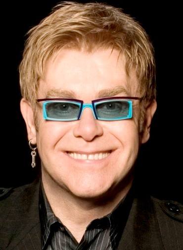 Foto de Elton John en sesión fotográfica