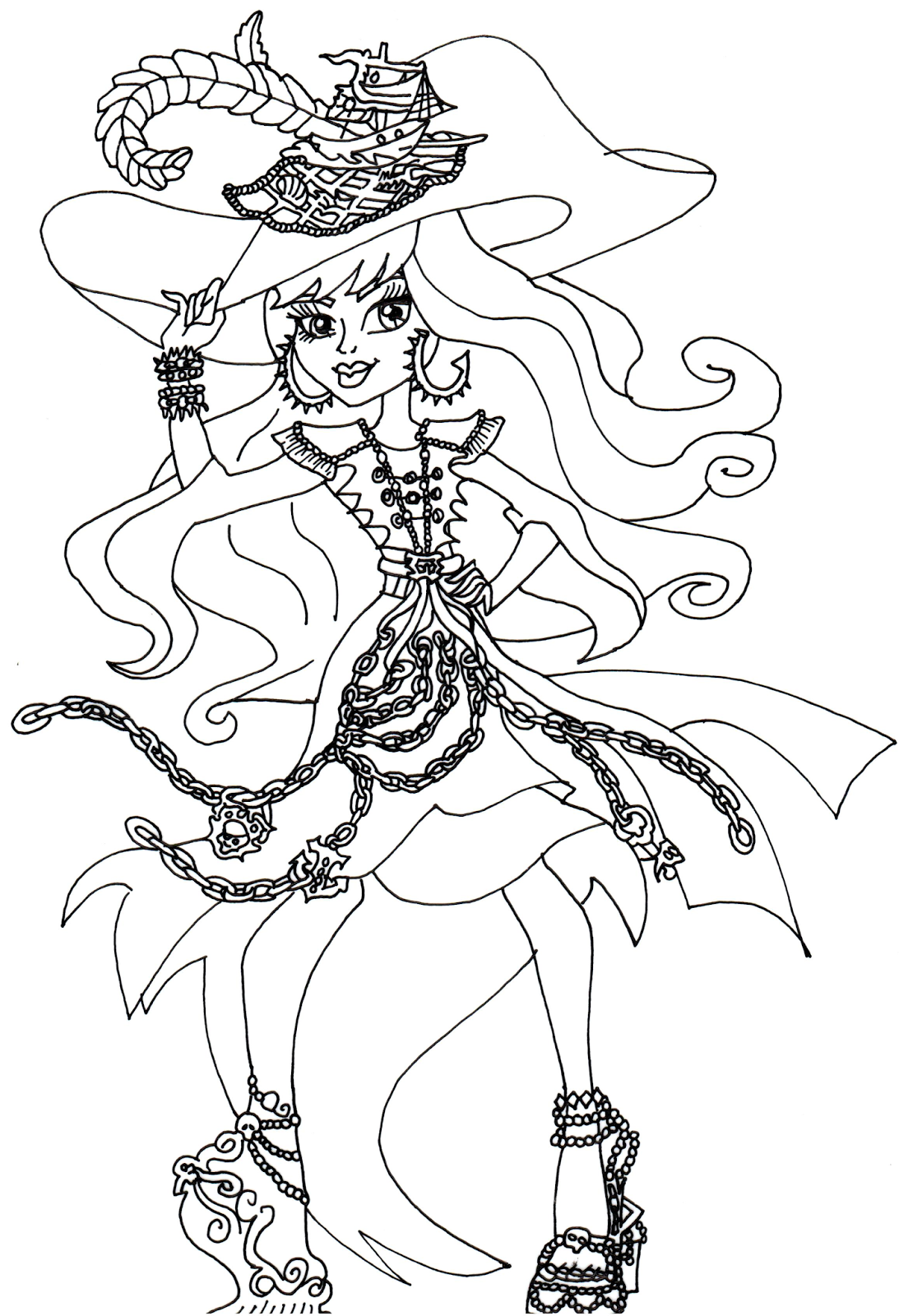 Free Printable Monster High Coloring Pages Vandala Doubloons Monster High Coloring Page