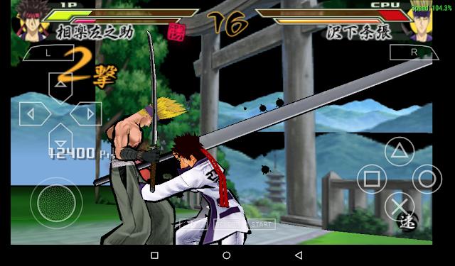 Samurai X Gameplay PPSSPP Android arieshp2