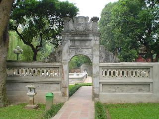 Temple of literature's courtyard. Hanoi, Vietnam