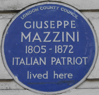 Mazzini lived at a number of London addresses, including one in Gower Street.