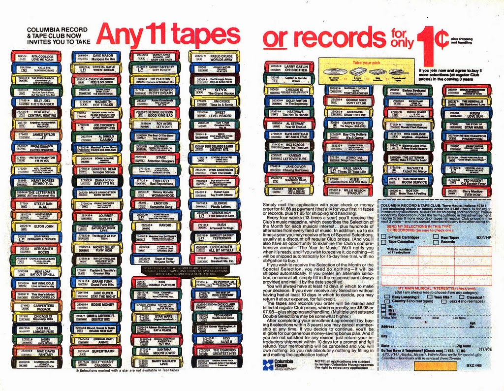 medium resolution of i also bought alot of my albums from columbia house with just a penny you could order a box full of your favorite albums of course there was always a
