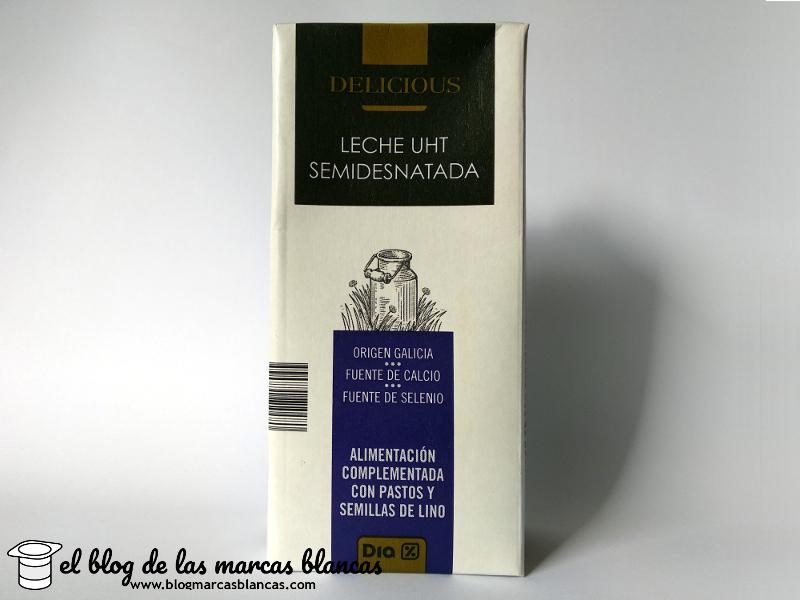 Leche semidesnatada UHT fuente de calcio y selenio - DELICIOUS de Dia.