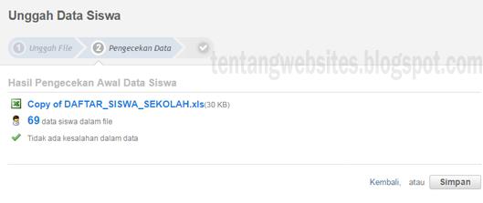 Cara upload data siswa