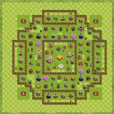 War Base Town Hall Level 11 By lorenzo97 (Villo TH11 Layout)