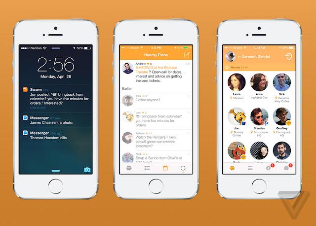 Swarm iPhone için Arkadaşlık ve Sosyal Ağ Uygulaması