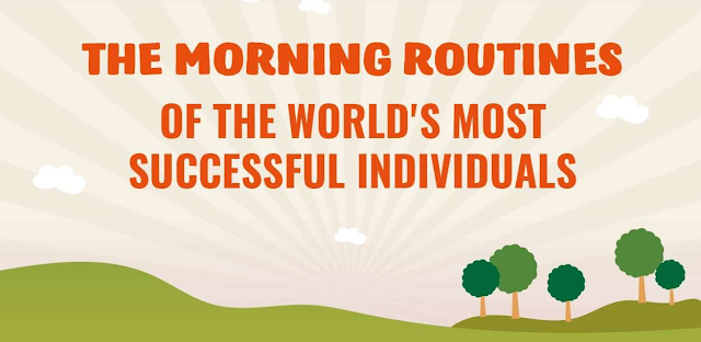 The Morning Routines Of The Worlds Most Successful Individuals infographic