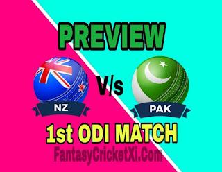 PAK Vs NZ 1st ODI DREAM11 TEAM