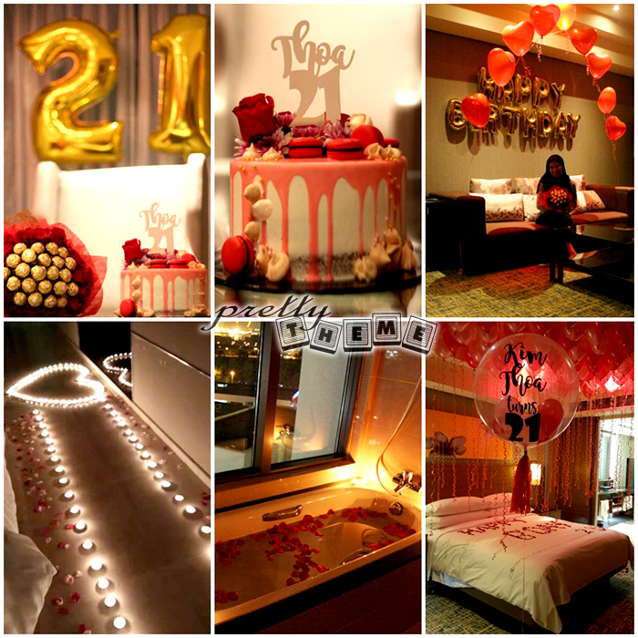 Pretty theme event planner adult birthday bash for B day decoration ideas