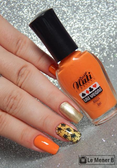 decoração com esmalte laranja