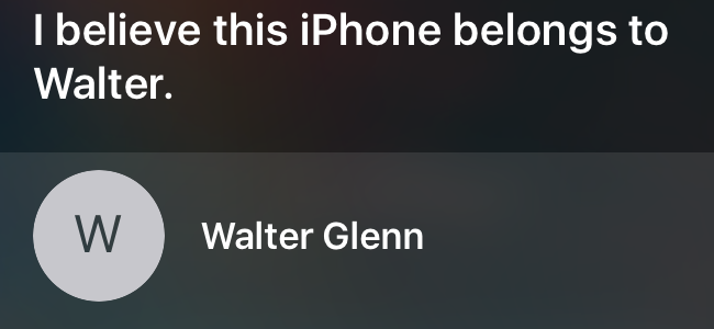 siri findout lost iphone owner