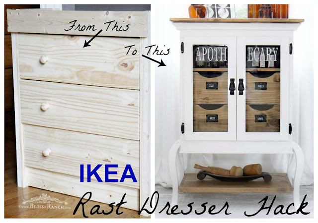 IKEA Rast Hack to Apothecary Cabinet, Bliss-Ranch.com