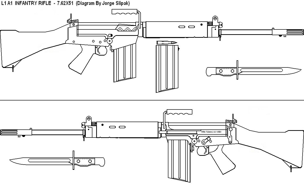 Fn 49 Infantry Rifle Blueprints