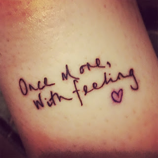 Once more, with feeling tattoo