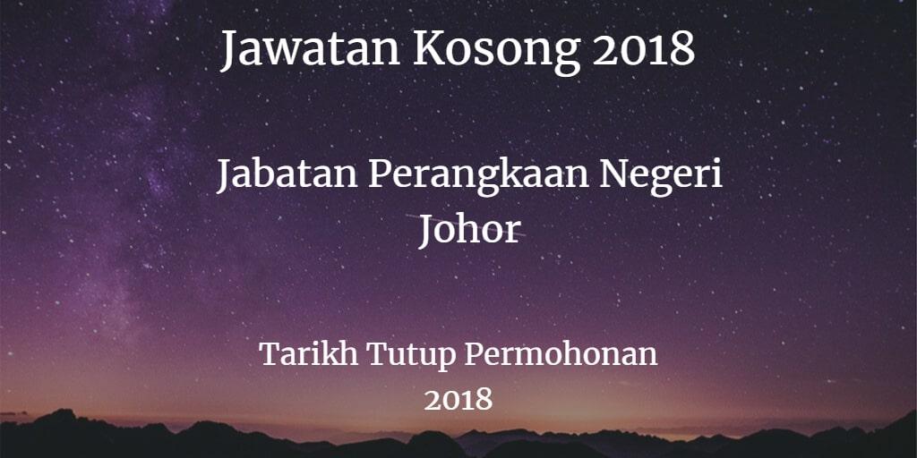 Jawatan Kosong Jabatan Perangkaan Negeri Johor Disember 2018