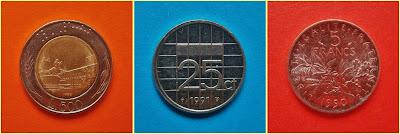 Monedas retiradas Europa