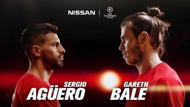 Agüero y Bale, nuevos embajadores de Nissan