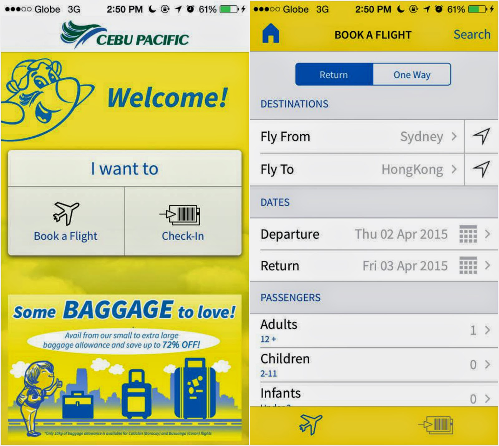 FTW! Blog, Cebu Pacific App