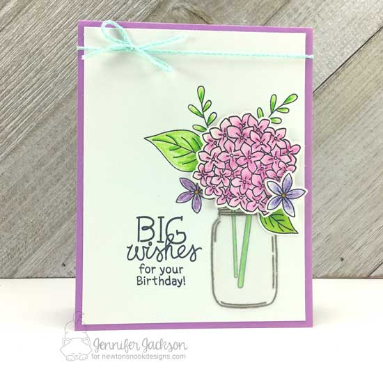 Big Birthday Bouquet by Jennifer Jackson | Lovely Blooms and Holding Happiness Stamp Sets by Newton's Nook Designs #newtonsnook #handmade