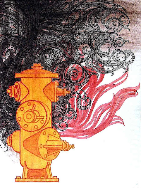 a Mike Hinge illustration of a fire hydrant