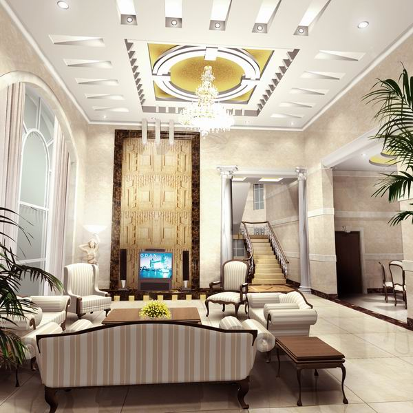 Modern Interior Decoration Living Rooms Ceiling Designs: New Home Designs Latest.: Modern Homes Ceiling Designs Ideas