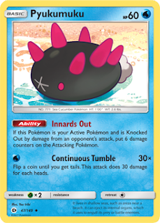 Pyukumuku Sun and Moon Pokemon Card
