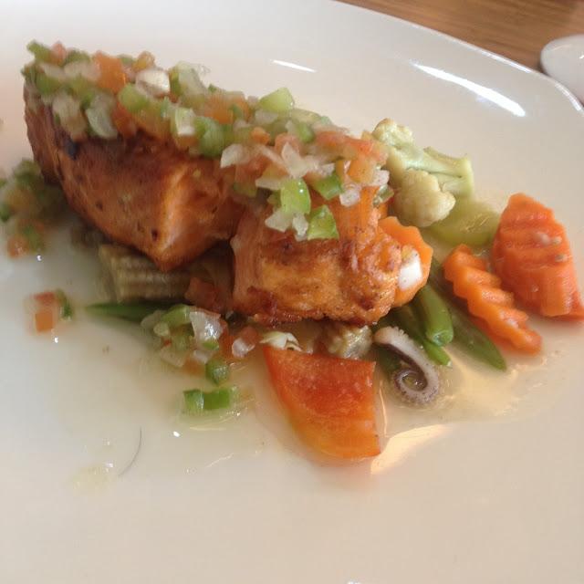 Pan-seared salmon at The Grain Restaurant