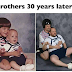 Awww! Brothers recreate childhood photo 30 years after
