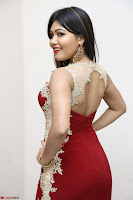 Rachana Smit in Red Deep neck Sleeveless Gown at Idem Deyyam music launch ~ Celebrities Exclusive Galleries 092.JPG