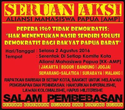 Seruan Aksi AMP 2 Agustus, Pepera 1969 Tak Demokratis