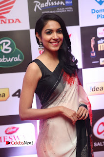 Ritu Varma Pictures in Red Saree at Mirchi Music Awards South 2015 ~ Bollywood and South Indian Cinema Actress Exclusive Picture Galleries
