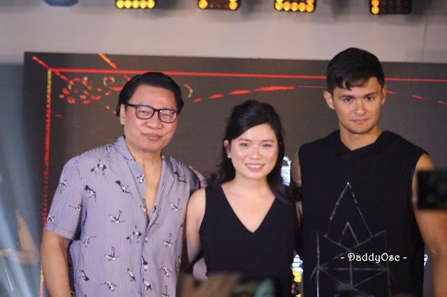 "Filipino Designer Avel Bacudio , Jane Lim -Director of Shopee Philippines, and actor Matteo Guidicelli on ""Avel x Matteo"" launch"