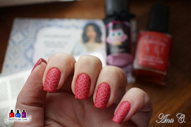 Avon, Vermelho Crystal, texturizado, vermelho, moyou london, arabesque 04, edk edwiges