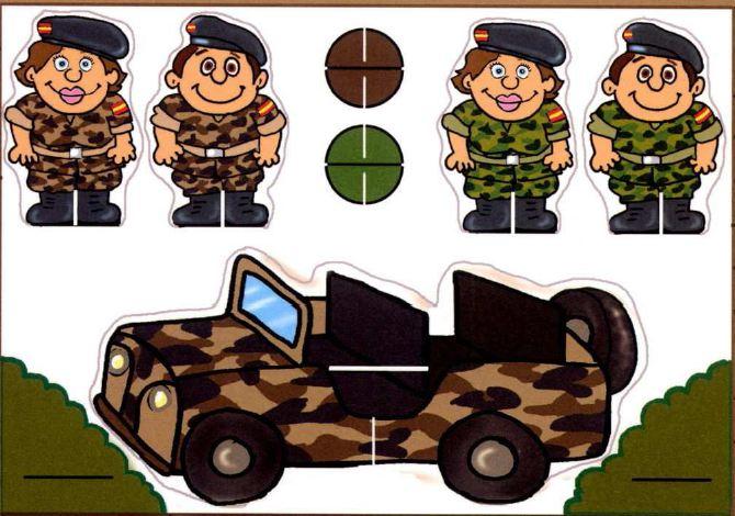 actividades infantiles del ejército, España, manualidades