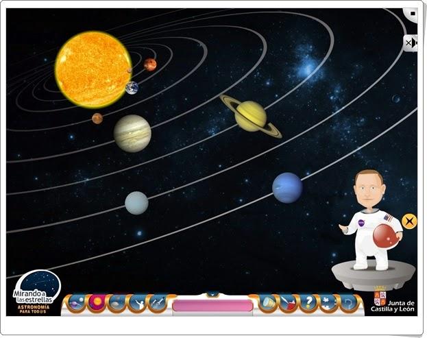 """""""Mirando a las estrellas"""" (Actividad interactiva de Geografía de Secundaria)"""