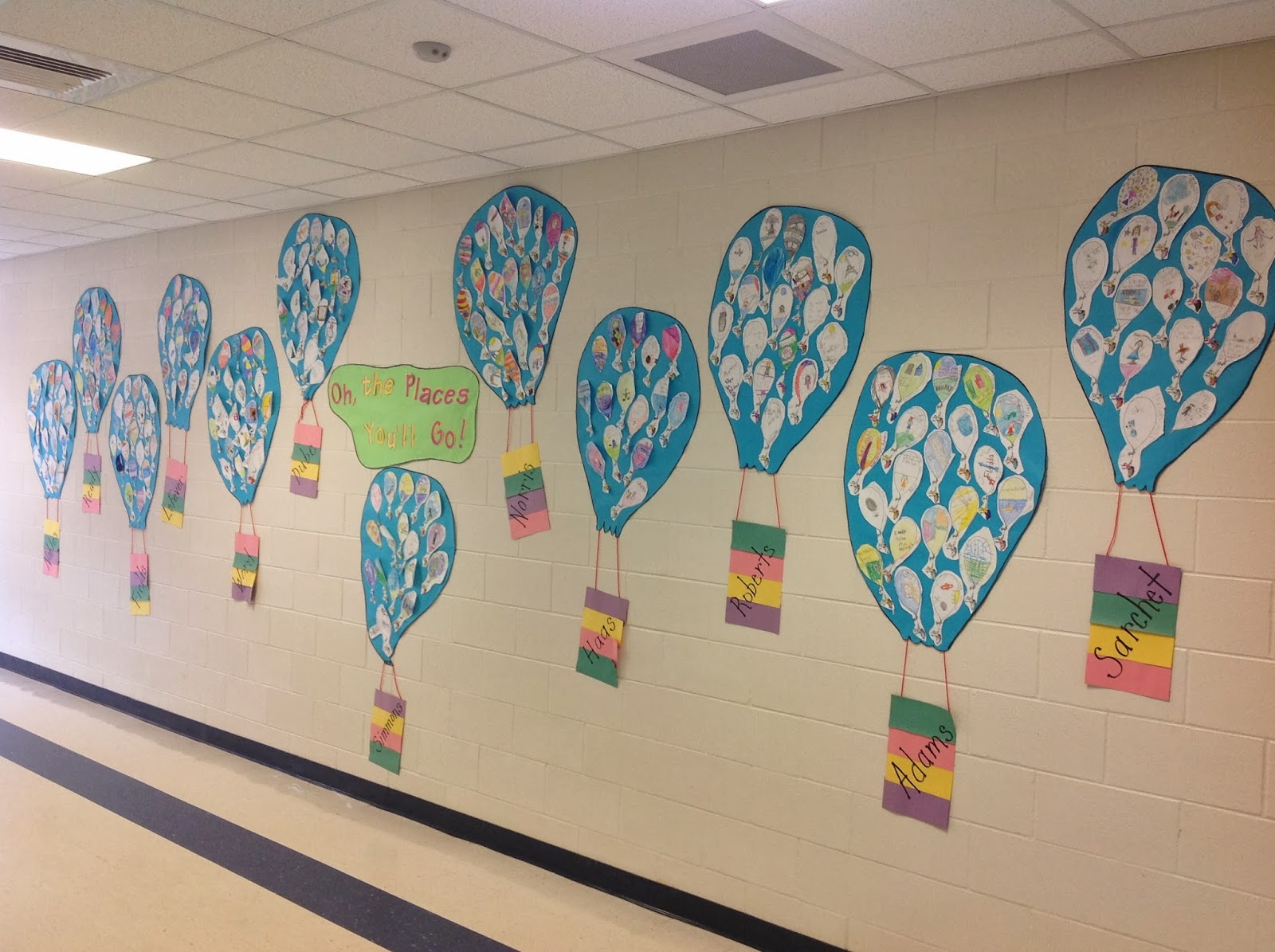 We Read The Book And Created Hot Air Balloons With Pictures Of Things Students Would Like To Do Be Or Achieve