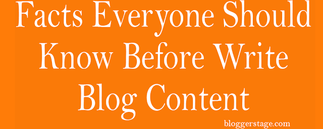 before write blog on blogger