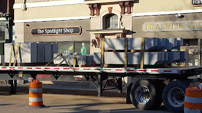 curbing to be offloaded downtown Franklin